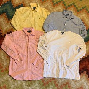 EUC Boys Ralph Lauren Polo Boys Shirts 18 XL 18 20